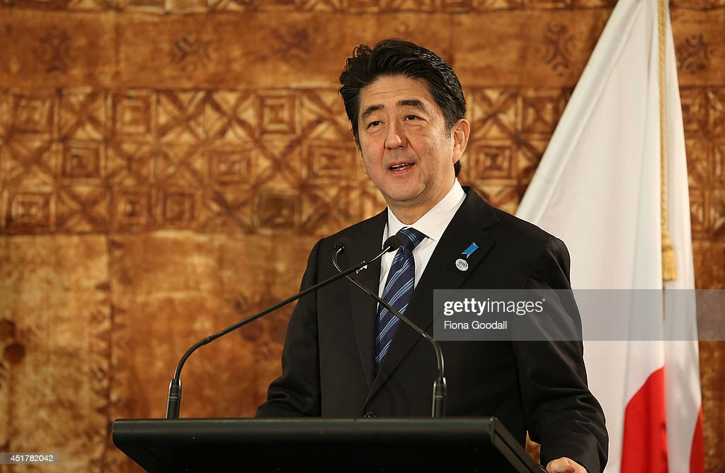 Japanese Prime Minister Shinzo Abe Visits New Zealand