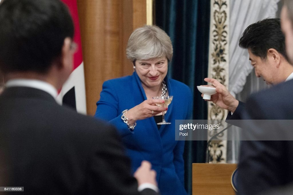 Theresa May's First Official Visit To Japan As Prime Minister - Day Two : News Photo