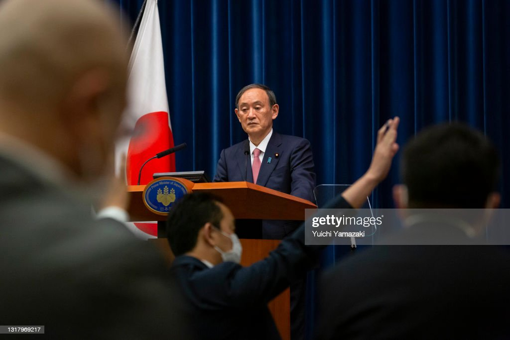 Japan's Prime Minister Announces State Of Emergency In Three More Prefectures : ニュース写真