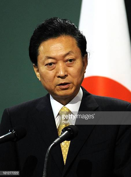 Japanese Prime Minister Yukio Hatoyama speaks during a press conference of the East Asian 3 Nations Summit also attended by also attended by South...