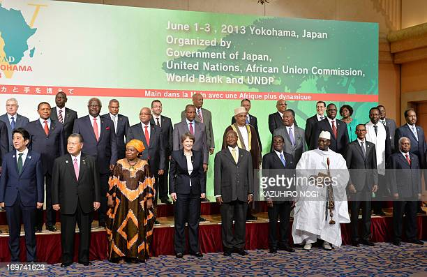 Japanese Prime Minsiter Shinzo Abe Former Japanese Prime Minister Yoshiro Mori Chairperson of the African Union Commission Nkosazana DlaminiZuma UNDP...