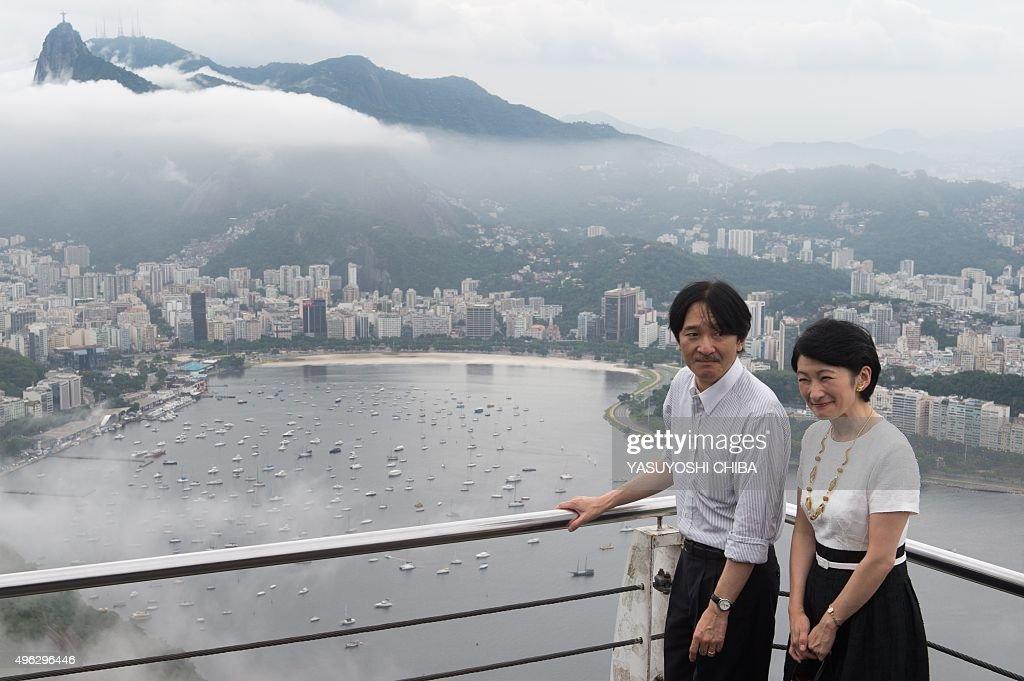BRAZIL-JAPAN-ROYALS : News Photo