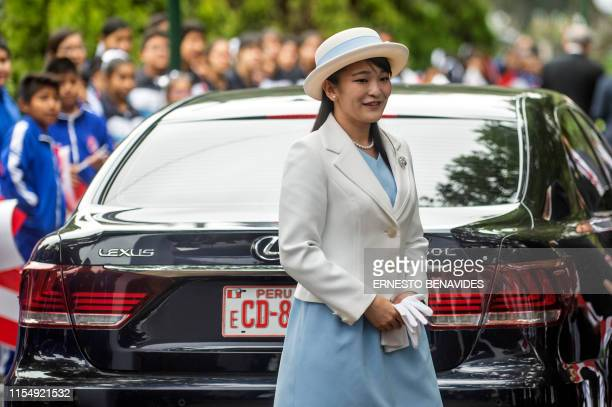 Japanese Princess Mako, the eldest daughter of Crown Prince Akishino and Crown Princess Kiko, arrives to lay a wreath at a monument erected in 1999...