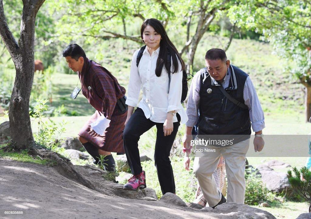 Japan's Princess Mako visits Taktshang Goemba in Bhutan : News Photo