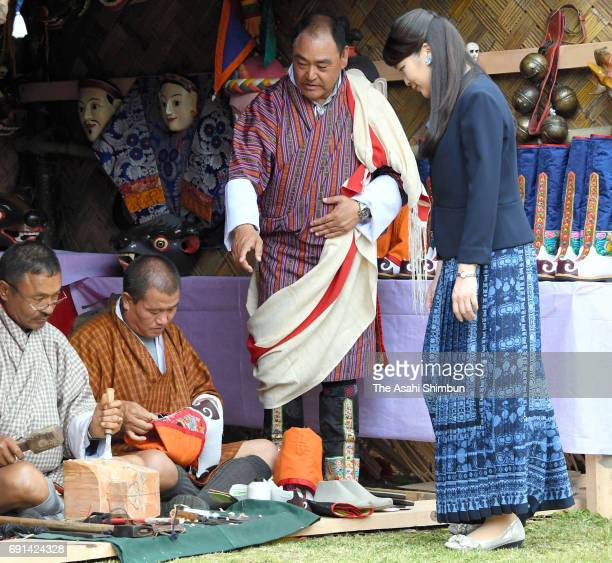 Japanese Priness Mako of Akishino visits the Folk Heritage Museum on June 1 2017 in Thimphu Bhutan
