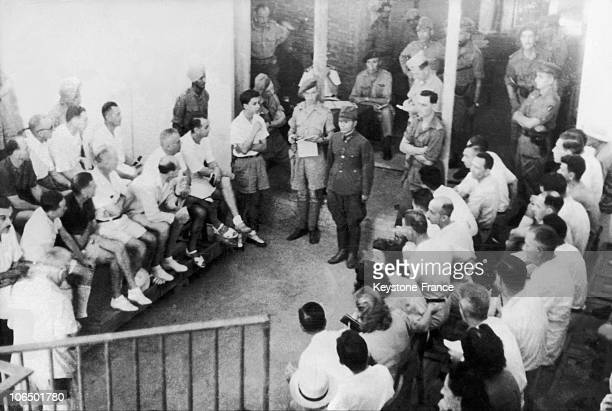 Japanese Prisoners In Indochina End Of The World War Ii In 1945
