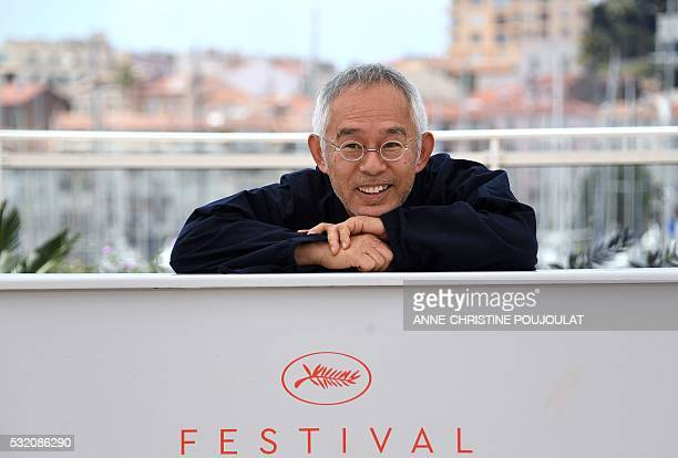 Japanese producer Toshio Suzuki poses on May 18 2016 during a photocall for the film 'The Red Turtle' at the 69th Cannes Film Festival in Cannes...
