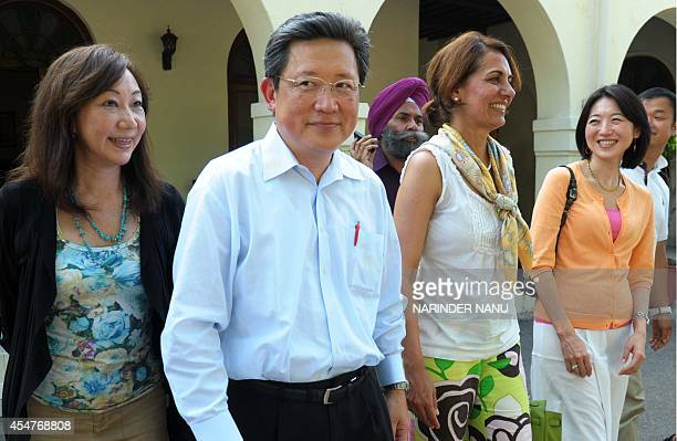 Japanese professors Yuko Hayashi , Kaoru Yamanouchi , Miwako Hosoda , and Dhillon Marty Foundation President Sonia Dhillon Marty leave after...