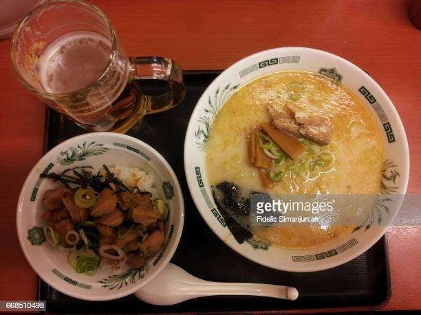 Japanese Ramen, Chicken Rice and Beer