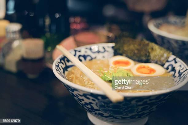 Japanese ramen in pork broth
