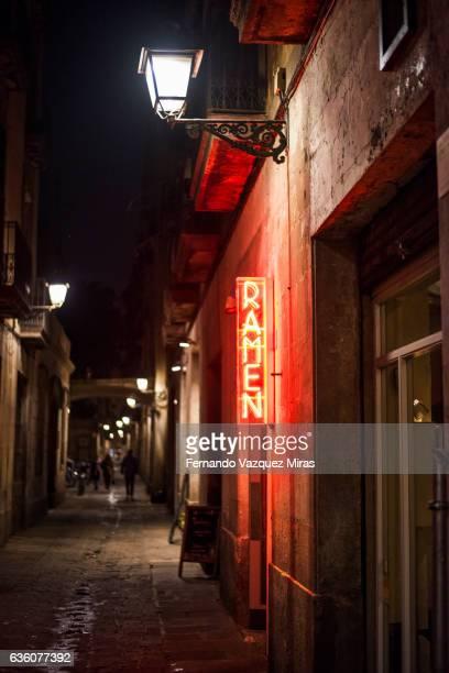 Japanese ramen restaurant outside in Barcelona