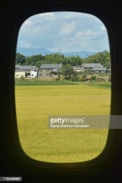 Japanese residential houses from window.