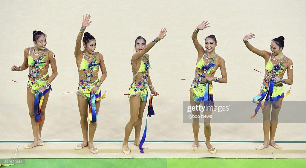 Japanese Rhythmic Gymnasts Sakura Noshitani, Rie Matsubara