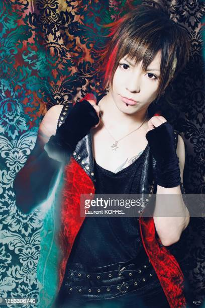 Japanese Rock singer from Rock Band Vivid, pictured in Paris festival Japan Expo on July 2, 2010 in Paris, France.