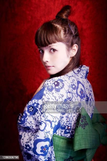 Japanese rock singer Olivia Lufkin pictured in Paris on July 7, 2007.