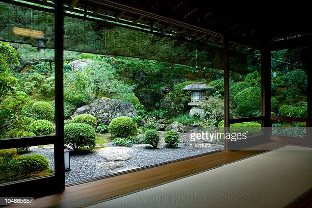 japanese room with a view - kyoto prefecture stock pictures, royalty-free photos & images