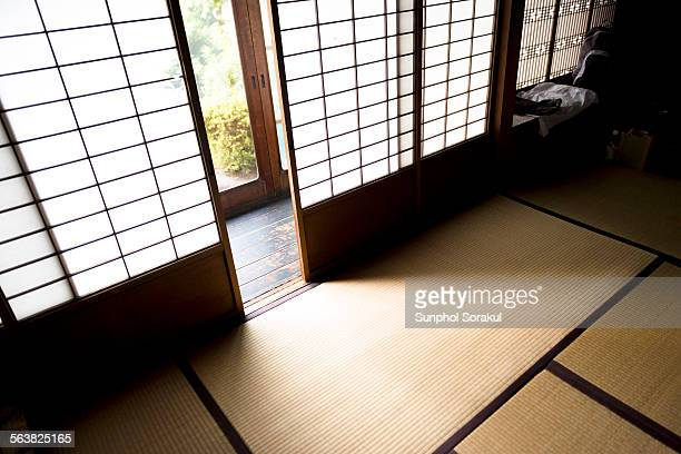 Japanese room with Shoji wall (paper screen)