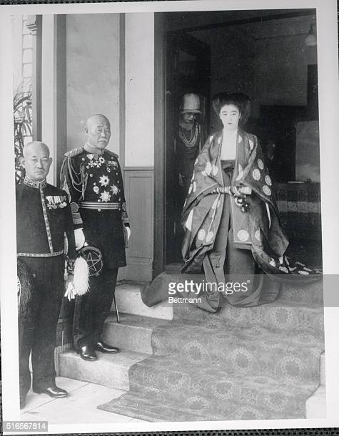 Japanese Royalty to Wed Princess Kikuko Asaka who will shortly marry Prince Naoyasu Nabeshima a leading peer paid her last visit to the Imperial...
