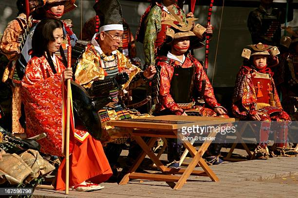 Japanese Samurai Reenactment Every year the Yabusame or Horseback Archery is held along the Shonan Coast of Japan in Kamakura and Zushi Prior to the...