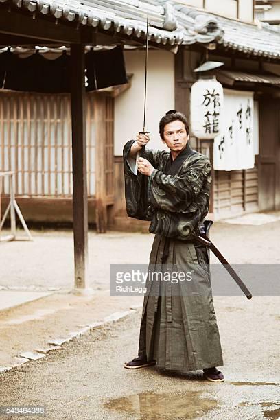 Japanese Samurai Ronin in Edo Period Town