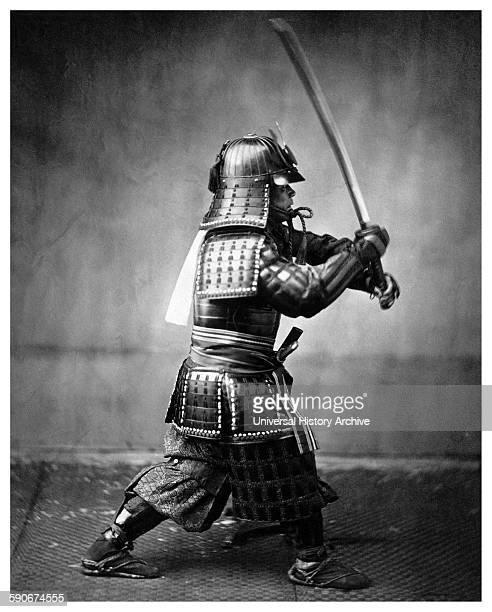 Japanese Samurai warrior Vintage photograph from japan 1867