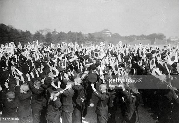 Japanese Schoolboys Celebrating Fall of Nanking