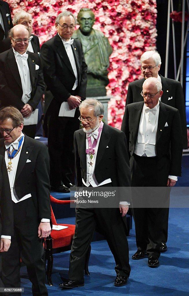 Japanese scientist Ohsumi receives Nobel prize : News Photo