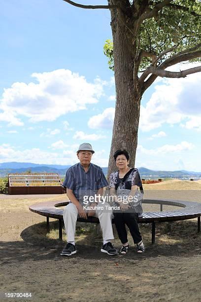 Japanese Senior couple portrait