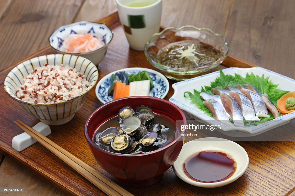 japanese set meal : Stock Photo