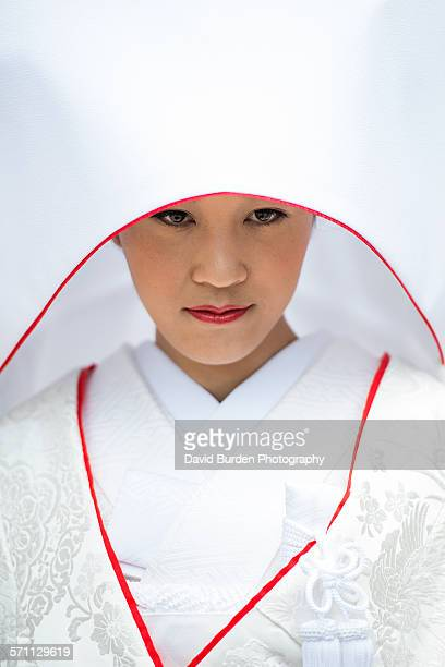 Japanese Shinto bride at wedding