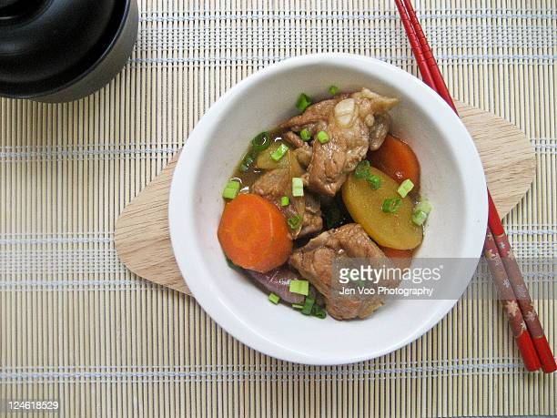 Japanese simmered meat and Potatoes