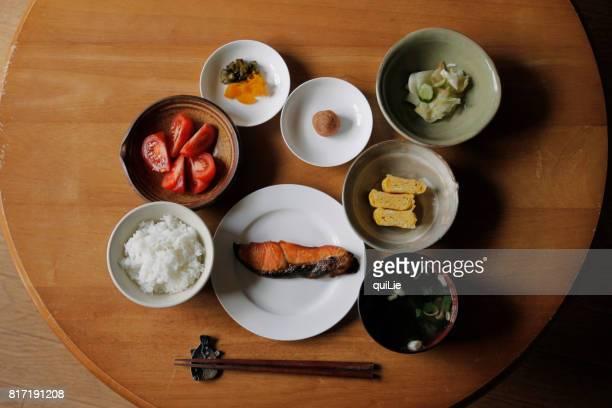 japanese simple breakfast - 朝食 ストックフォトと画像