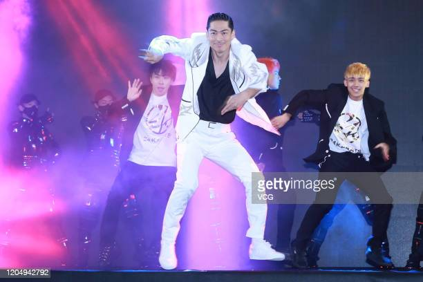 Japanese singer Akira of boy band EXILE attends the opening ceremony of 2020 Taipei Lantern Festival on February 8, 2020 in Taipei, Taiwan of China.