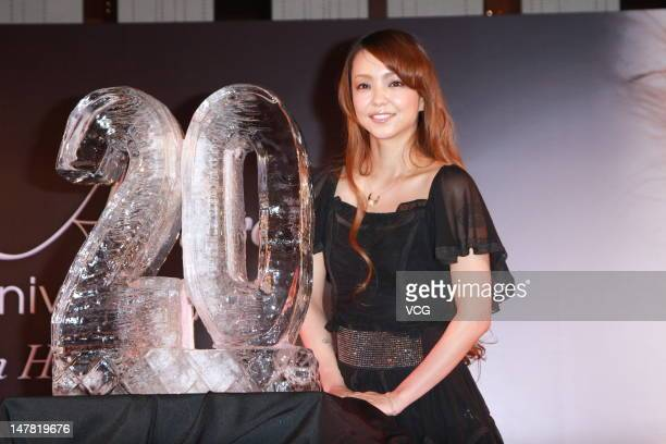 Japanese singer Amuro Namie attends a press conference to promote her new album 'Uncontrolled' at W Hotel on July 3 2012 in Hong Kong Hong Kong