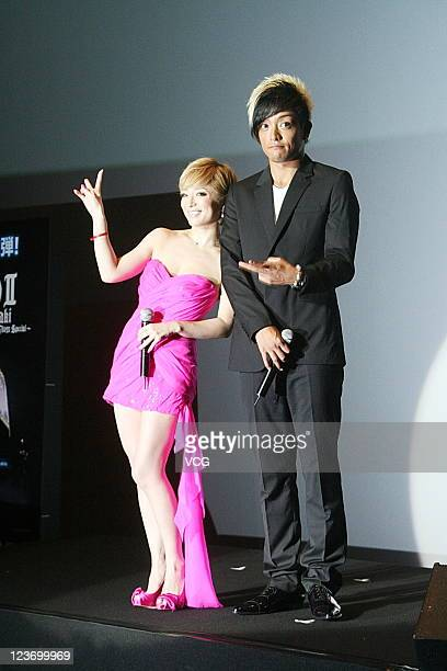 Japanese singer Ayumi Hamasaki promotes her 3D concert on September 3 2011 in Hong Kong China