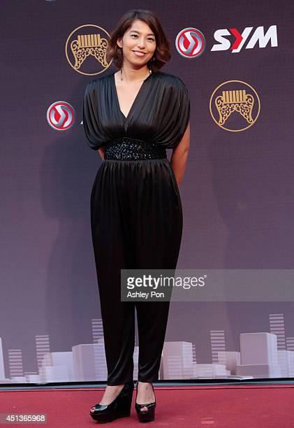 Japanese singer Miho Fukuhara arrives at the 25th Golden Melody Awards on June 28 2014 in Taipei Taiwan The Golden Melody awards in the annual...