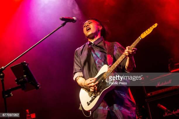 Japanese singersongwriter Takamasa Ishihara or popularly known as Miyavi performs live at Alcatraz