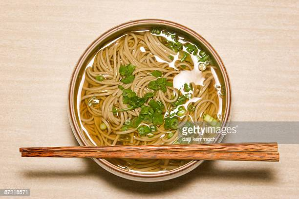 japanese soba noodle - soba stock pictures, royalty-free photos & images