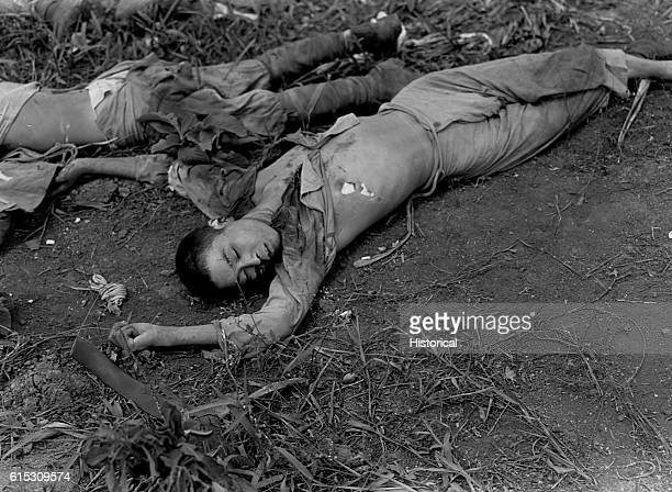 Japanese soldiers killed during the battle for Guam July 1944