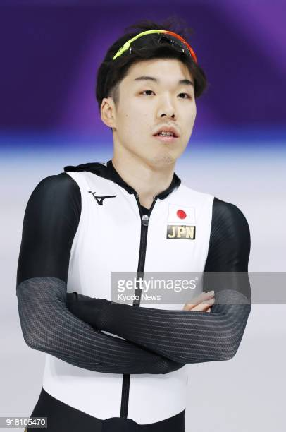 Japanese speed skater Tsubasa Hasegawa takes part in official training in Gangneung South Korea on Feb 8 2018 Hasegawa was forced to temporarily...