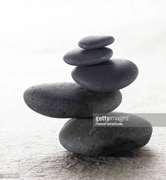 Japanische Stapeln meditation zen Steine