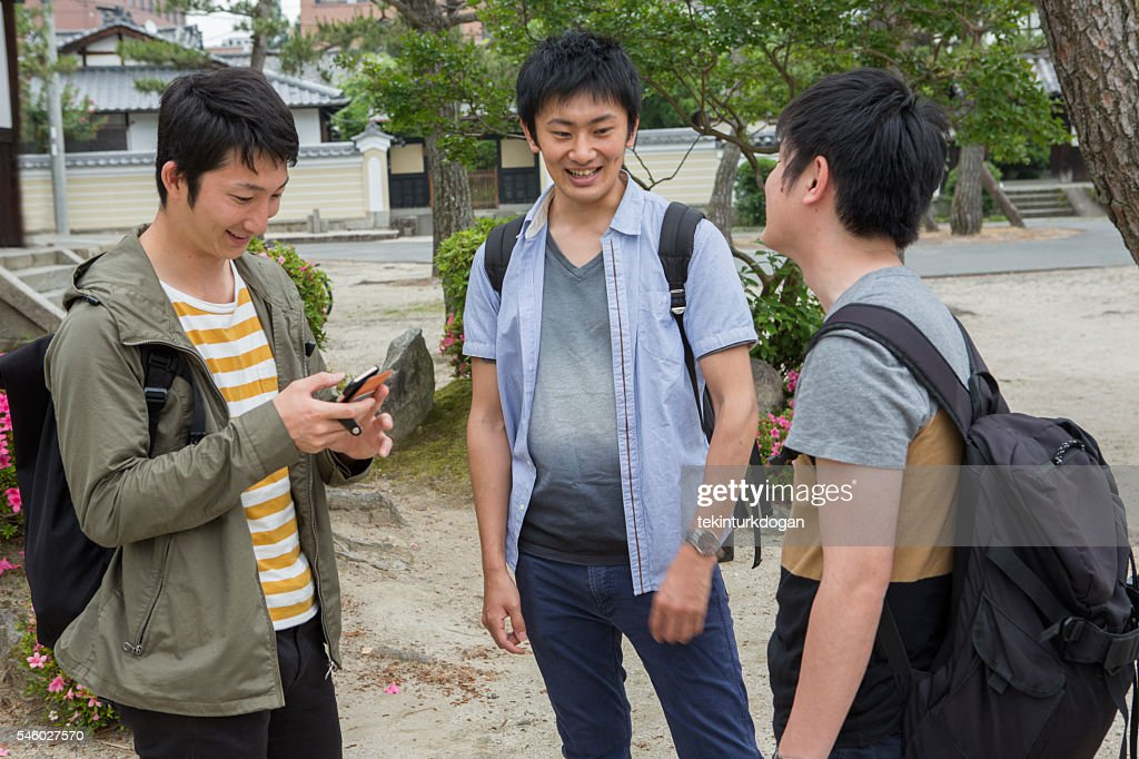 japanese students together with friend classmates in kyoto japan : Stock Photo