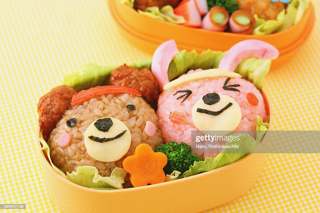Japanese style character lunch box : Stock Photo