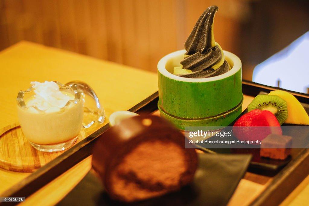 Japanese Style Dessert : Stock Photo