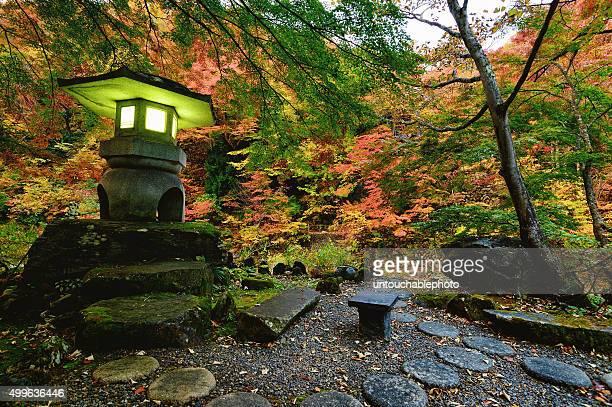 japanese style lamp of takaragawa onsen, japan - 宿屋 ストックフォトと画像