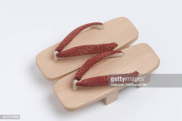 Japanese style wooden clogs