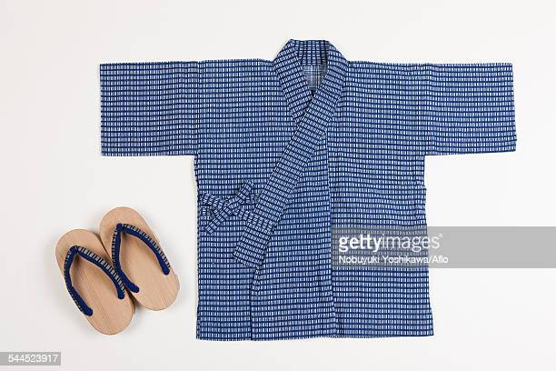 Japanese style Yukata and wooden clogs