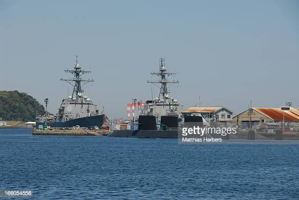 Japanese submarines Oyashio class of Japan Maritime Self-Defense Force . Seen at Yokosuka, Kanagawa, Japan