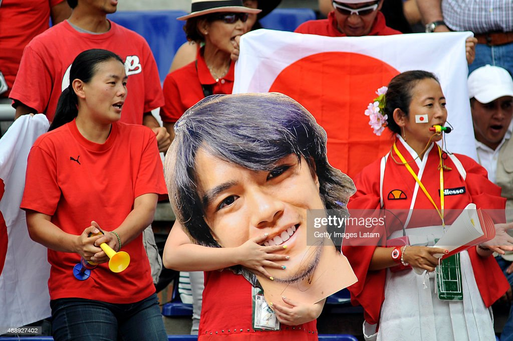 Colombia v Japan - Davis Cup World Group Play-Off - Day 1 : News Photo