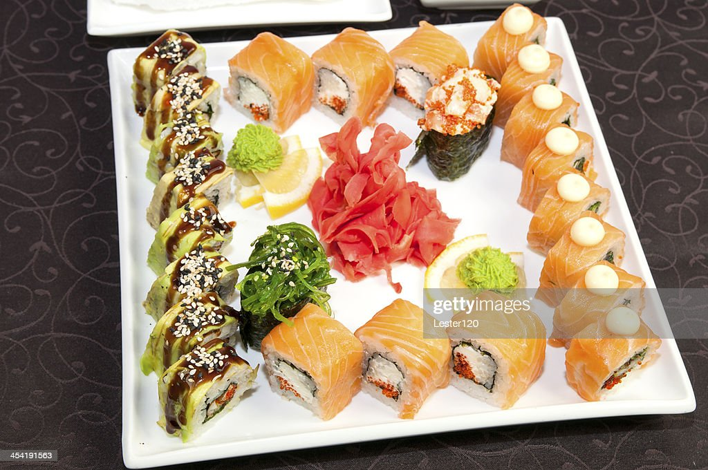 Japanese sushi restaurant : Stock Photo